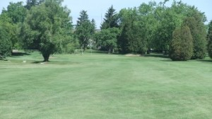 The 18th hole at Cambridge Golf Club in Cambridge Ontario from about 170 yards out.